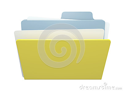 3D folder and paper file