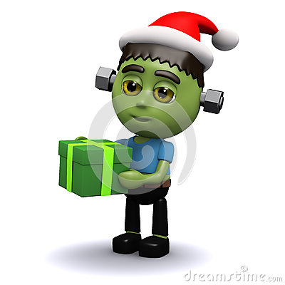 Free 3d Frankenstein Christmas Royalty Free Stock Photography - 40581517