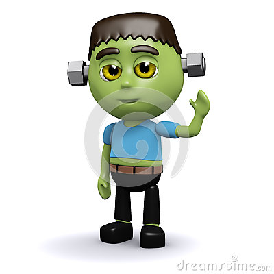 Free 3d Frankenstein Monster Royalty Free Stock Photography - 40581537