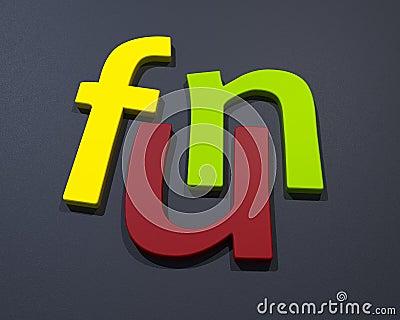 3D Fun word
