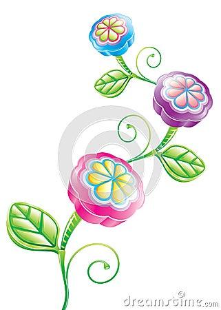 3D Funny Flower
