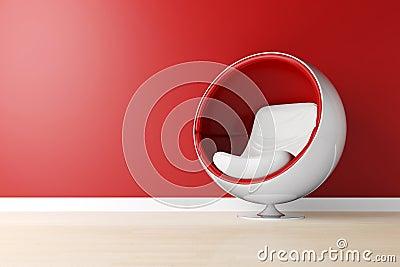 3d futuristic armchair, studio shot