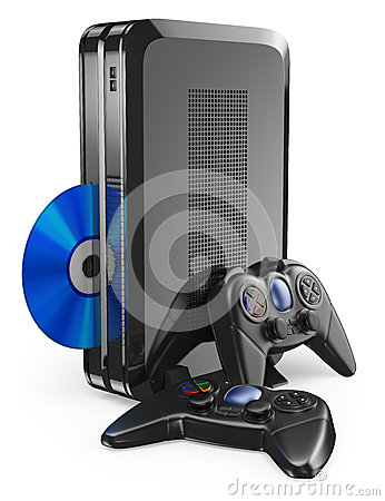 Free 3D Game Console With Gamepad Royalty Free Stock Photo - 44458785