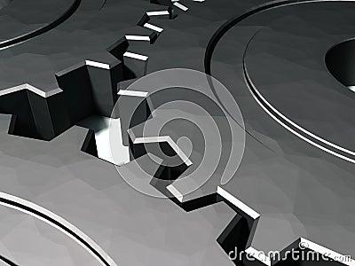 3D Gears working in tandem
