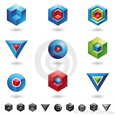 Free 3d Geometrical Shapes Royalty Free Stock Image - 7552406