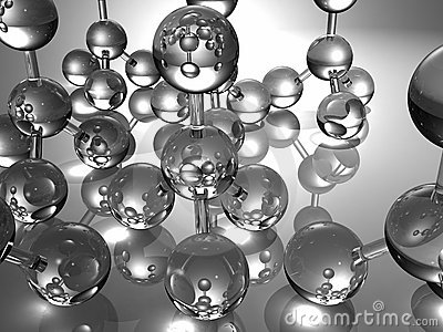 3D glass molecules