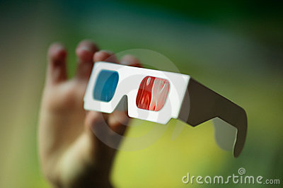 3D Glasses in hand