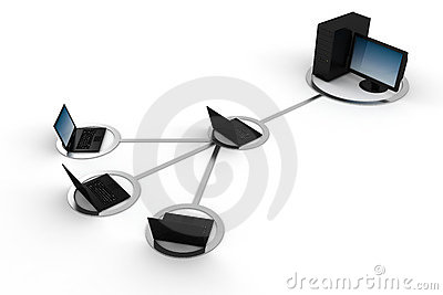 3d global network, concept, on white