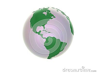 3d Globe - Americas