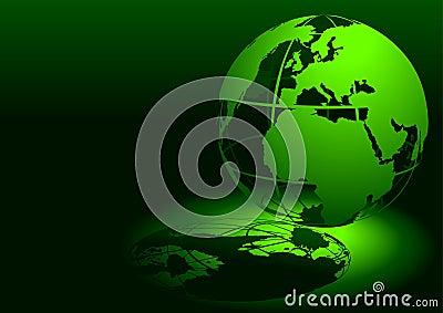 3D Globe - Green