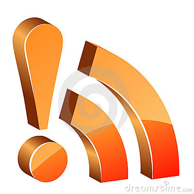 3d glossy rss icon