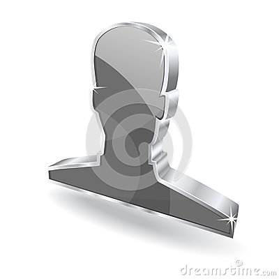 3d Glossy User Vector sign Icon