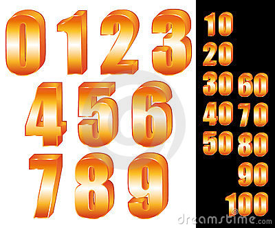 3D Gold numbers.