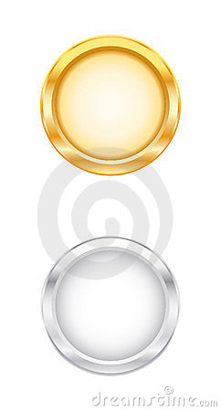 3D Gold & Silver Object