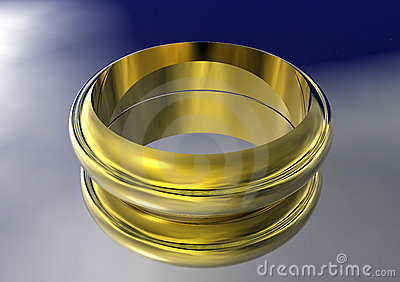 3D Gold Wedding Band