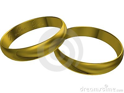 3d gold wedding rings