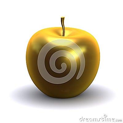 Free 3d Golden Apple Stock Photo - 44755550