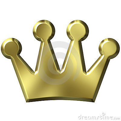 Free 3D Golden Crown Stock Photography - 3251962