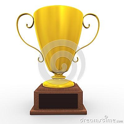 3d golden cup