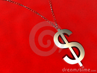 3D golden dollar Charm