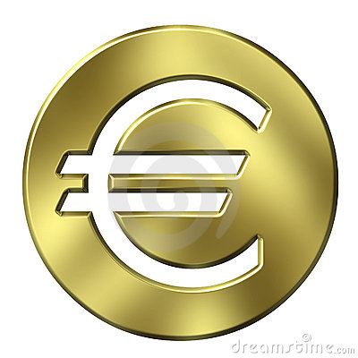 Free 3D Golden Framed Euro Currency Sign Royalty Free Stock Photos - 3948548