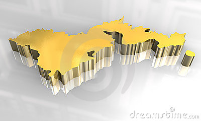 3d golden map of american samoa