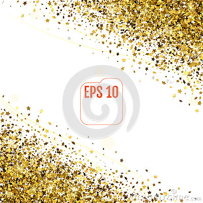 Free 3d Golden Stars Are Falling Down. Vector Stock Images - 88527444