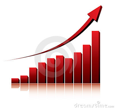 Free 3d Graph Showing Rise In Profits Or Earnings Royalty Free Stock Images - 11246659