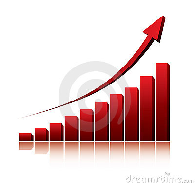 Free 3d Graph Showing Rise In Profits Or Earnings Stock Photography - 11277332