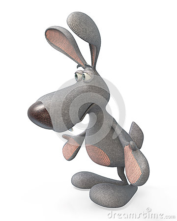 Free 3d Gray, Plush Hare Royalty Free Stock Images - 67730709