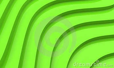 3D green abstract
