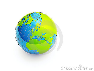 3d green earth