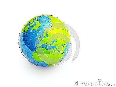 3d green earth