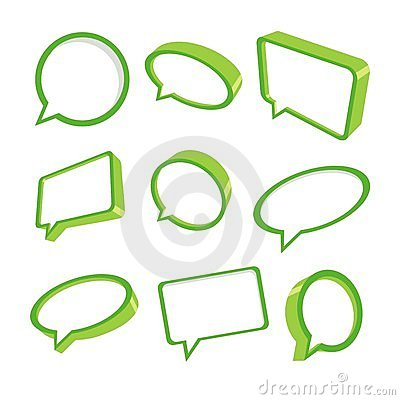 3d green speech bubbles