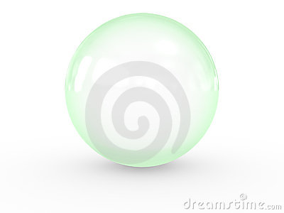 3d green sphere