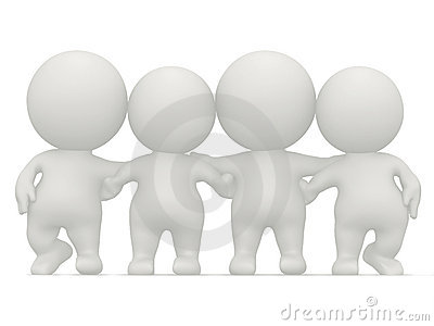 3D group hug