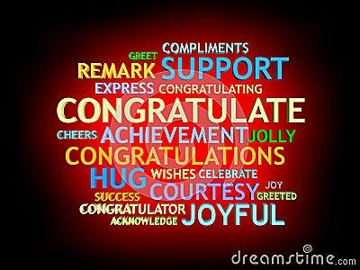 3d grow congratulation's word-cloud