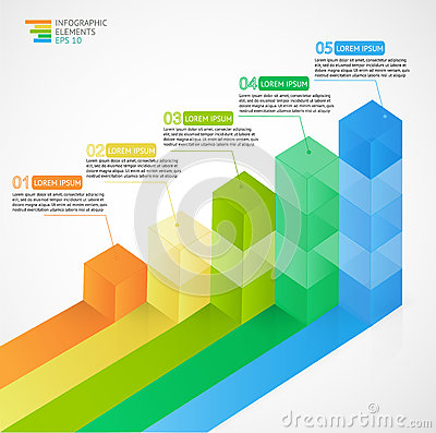 Free 3D Growing Multicolor Infographic Bar Chart Diagram For Financial, Analytics, Statistics Reports And Web Design. Stock Image - 71348371