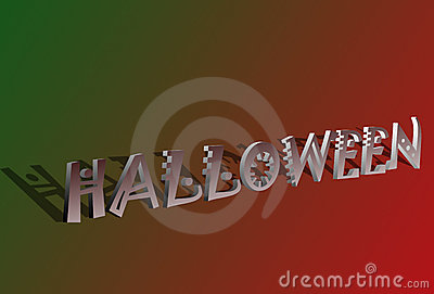 3D Halloween text