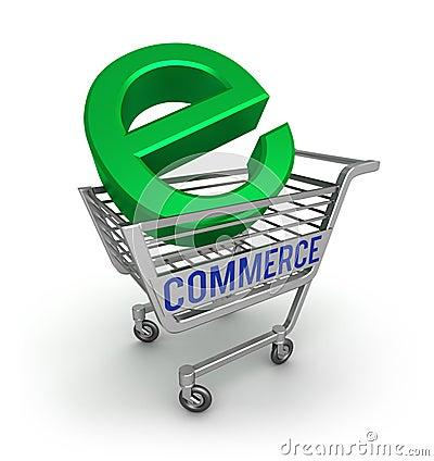 3d handel ikona e