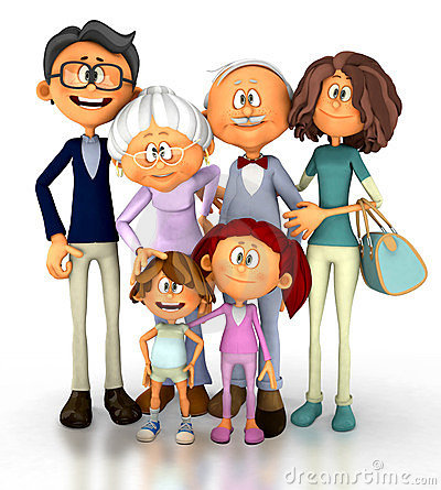 3D Happy family