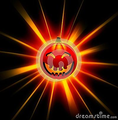3D happy Halloween pumpkin