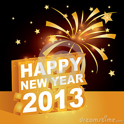 3D  , Happy new year 2013