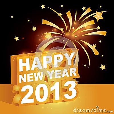Free 3D  , Happy New Year 2013 Stock Photos - 27095173