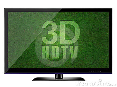 3D HDTV with white background