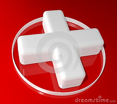 3d health cross sign