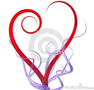 3d heart abstract