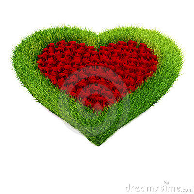 3D Heart shape garden