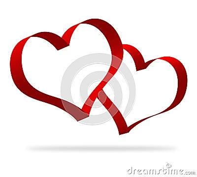 3d heart shapes