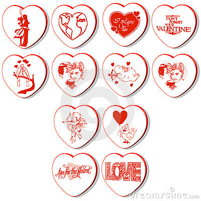 Free 3d Hearts Vector Royalty Free Stock Photography - 13485327